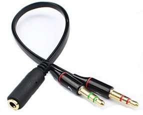 Cable audio sonido y micrófono (macho) a un setero (hembra) ,unifica.