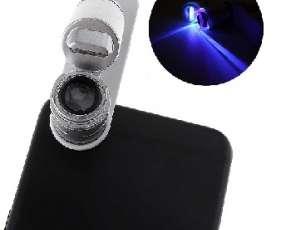 MICROSCOPIO 60X PARA CELULARES CON LUZ LED/ULTRAVIOLETA