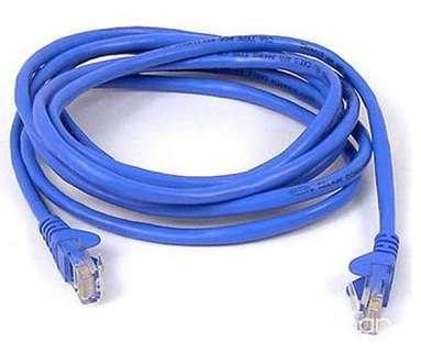 Cable de red 5 metros categoría 5 patch cord RJ 45 lan - 0