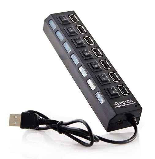 Hub USB 7 puertos 2.0 con interruptor. - 0