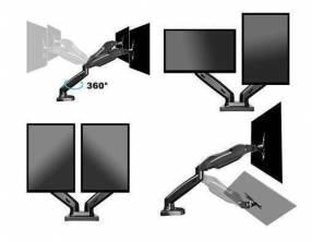 Soporte de mesa para 2 monitores elg f160n 17