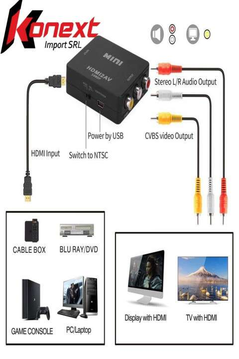 Conversor HDMI A RCA - 1