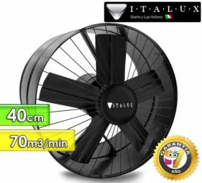 Extractor de aire 40 cm de diámetro de Italux flujo 70 m3 por minuto
