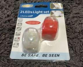 Pack de luces frontales manubrio y casco
