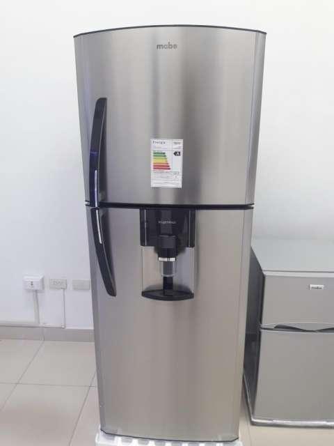 Heladera Mabe inoxidable con dispenser de 430 litros - 0
