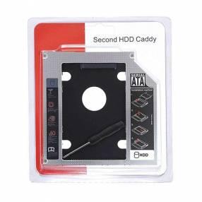 Adaptador Caddy para notebook 9.5mm segundo disco