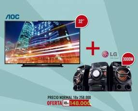 TV 32 pulgadas + Equipo de Sonido LG