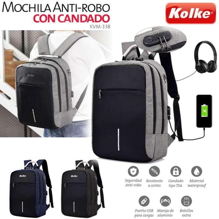 Mochila Antirrobo con candado y manija Kolke KVM-338 - 0