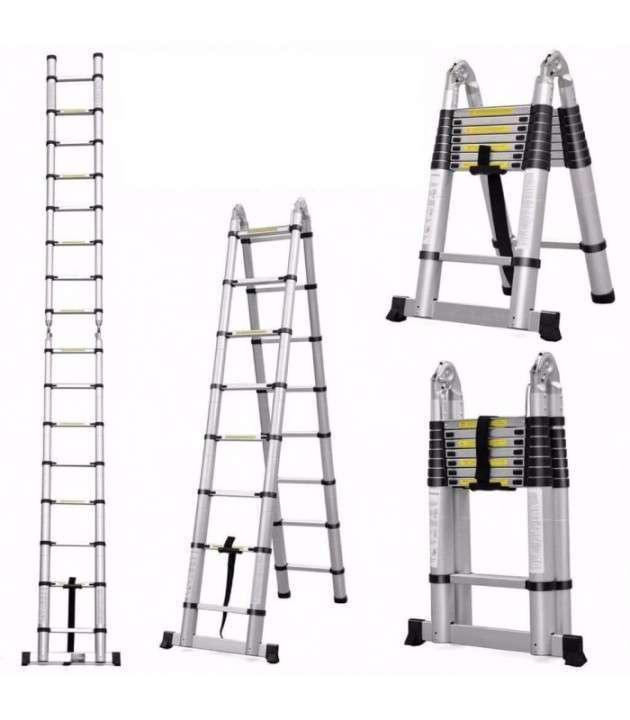 Escalera telescopica de aluminio multiproposito 5 metros - 0