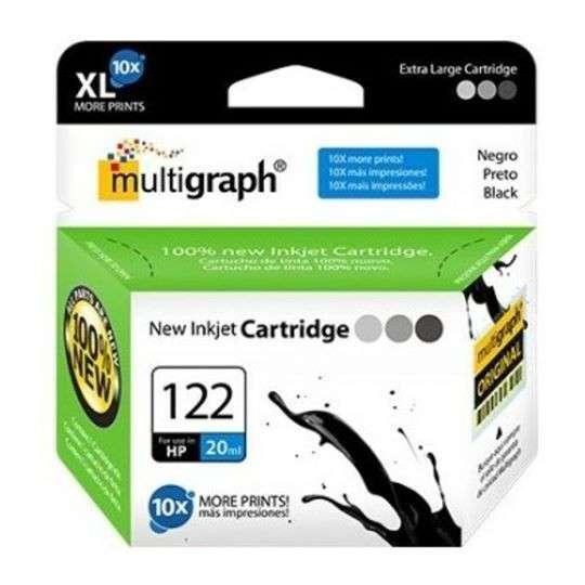 Cartucho de tinta XL multigraph 122 negro para HP - 0
