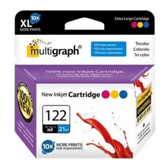 Cartucho de tinta XL multigraph 122 color para HP - 0