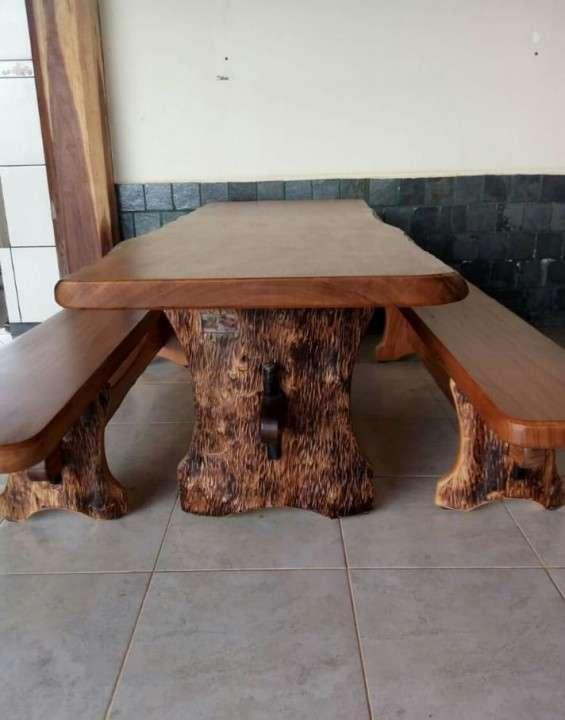 Mesa comedor de madera - 5