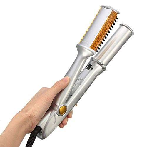 Alisador y rizador de cabello con plancha giratoria 50W 120V - 1
