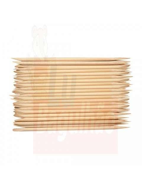 Palito de bambu punta chata 50 unidades - 0