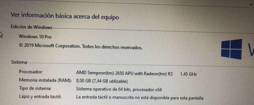 PC Sate 8 GB RAM Windows 10 Pro SSD 120 GB - 1