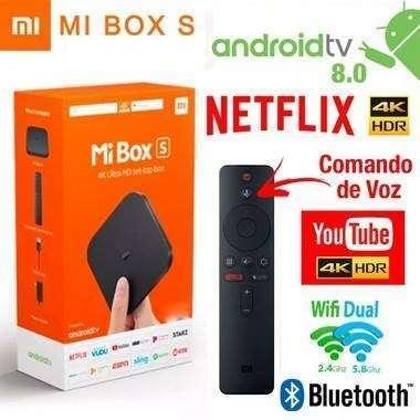 Tv Box Xiaomi MI Box S Ultra HD 4K Android 8.1 - 0