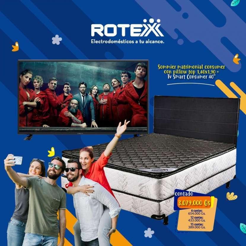 Sommier Consumer 140x190 con Smart tv de 40 pulgadas - 0