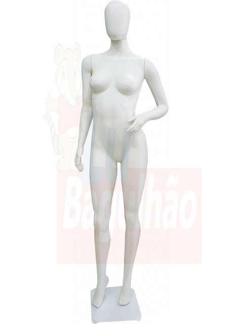Maniqui de fibra de vidrio blanca fem - 2