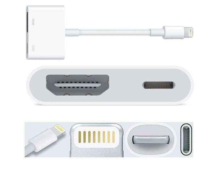 Adaptador HDMI Lighting iphone - 0