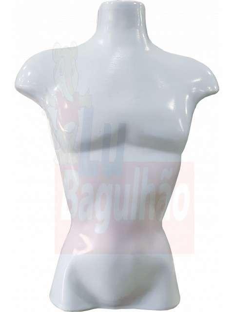 Maniquí busto masculino blanco - 0