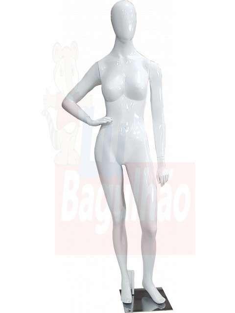 Maniqui de fibra de vidrio blanca fem - 3