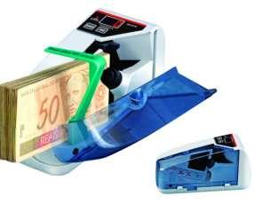 Contador de billetes portátil