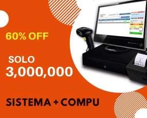 Sistema control de stock más computadora