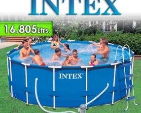 Piscina Intex 16.805 lts redonda estructura metálica