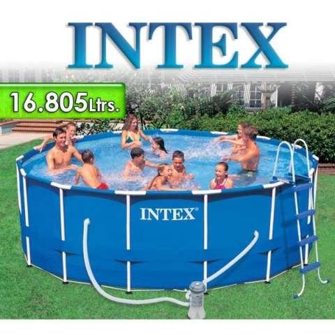 Piscina Intex 16 805 Lts Redonda Estructura Metálica