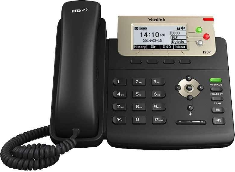 Voip teléfono ip yealink/yeastar sip-t23p - 0