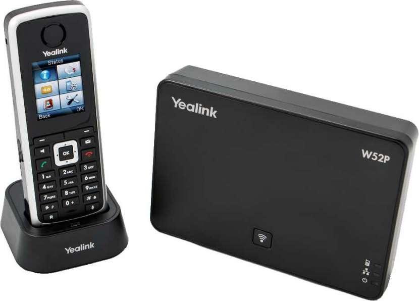 Voip teléfono ip base+handset yealink/ yeastar w52p - 0
