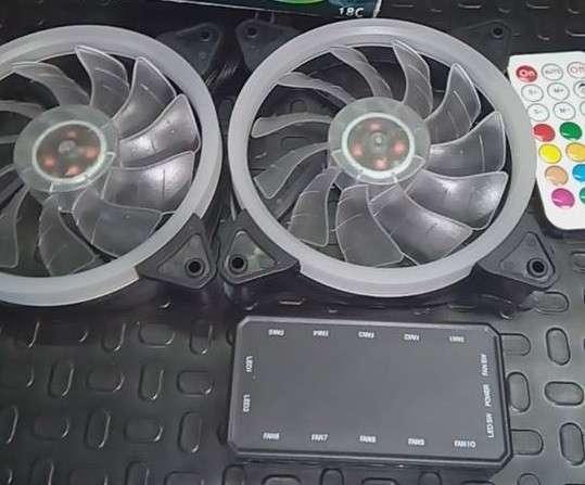 Cooler RGB combo 3 unidades para PC - 2