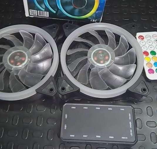 Cooler RGB combo 3 unidades para PC - 0