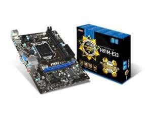 MB MSI LGA 1150 H81M-E33 S/V/R