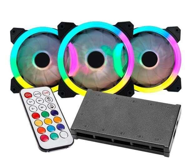 Cooler RGB combo 3 unidades para PC - 1