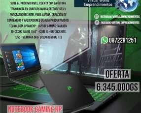 Notebook Gaming Pavilion 15-cx0001la de HP