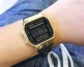 Reloj Digital Casio Unisex Vintage A 168WEGB-1B