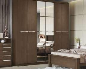 Ropero Jacaranda 6 puertas con espejo
