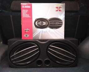 Caja con parlantes 6x9 ovalados ExploSound