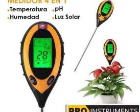 Medidor Digital de Humedad Temperatura Luz y pH del suelo