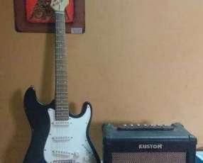 Guitarra eléctrica zipy + Amplificador Kustom