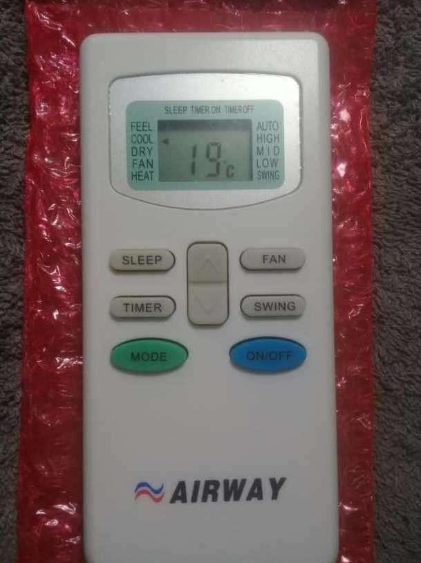 Control remoto de Aire Acondicionado Airway - 1