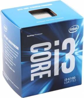 Procesador CI3-6100 3.7/3M/1151 6ta Generación