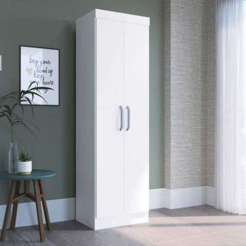 Ropero multiuso blanco 2 puertas