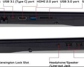 Notebook Acer i7 gtx 1060 16GB