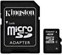 Memoria SD 4 GB Micro 2x1