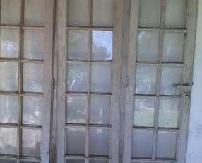 Puerta vidriera estilo Francés