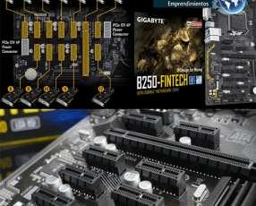Placa madre Gigabyte B250 FinTech 12 PCle nativas p/mineria
