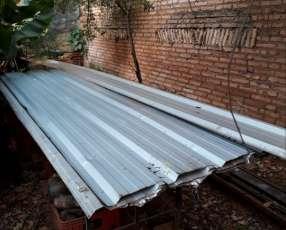 Chapa de aluminio para techo con rieles de hierro