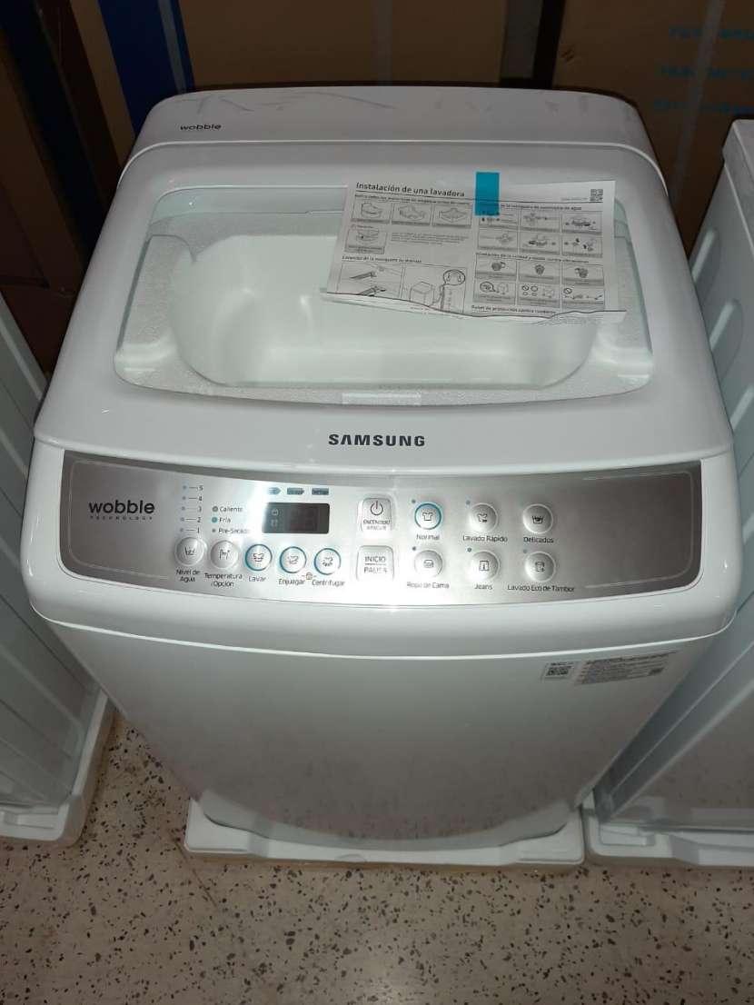 Lavarropa automática Samsung 8 kg carga superior - 0